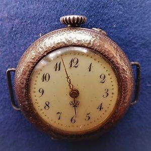 Gilded-8-Carat-Ladies-Bracelet-Pocket-Watch-in-case-Approx-1920