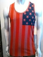 Usa Flag Tank Top Mens Red American Flag Fashion Tank Usa Tank Top S-2x 5