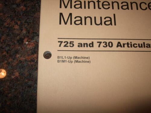 CAT CATERPILLAR 725 730 TRUCK OPERATION /& MAINTENANCE MANUAL S//N B1L B1M