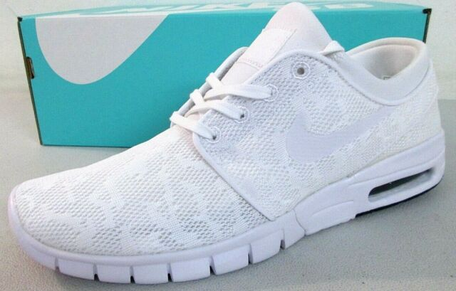 NEW Nike SB Stefan Janoski Max Men/'s Triple White Shoes Skate 631303 114