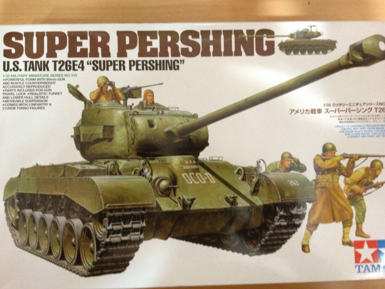 Tamiya Maqueta,escala 1 35,SUPER PERSHING,U.S TANK T26E4,ref.35319