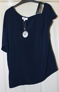 Apricot-Navy-Strappy-Top-Size-10-New-With-Tags