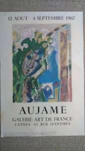 Aujame-Affiche-Galerie-de-france-Aujame-Poster-Gallery-of-France-63x42-cm-1960
