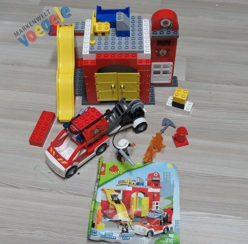 LEGO® DUPLO Feuerwehr Station 6168 Wache Feuerwehrstation Auto Löschfahrzeug