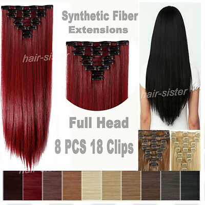 From USA real high quality heat resistant hairpiece clip in hair extensions t5