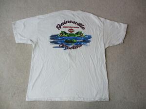 Harley-Davidson-Shirt-Adult-Extra-Large-White-Blue-Gainesville-Florida-Gator