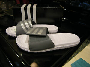 Brand New Uomo Gray & White Adidas Voloomix Vario Sandali, Numero 7