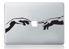 Michelangelo Adam hands mac sticker apple macbook laptop decal art vinyl art