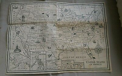 Vintage Lithograph Lithographed Hassenfeld United States Of America Road  Map htf | eBay