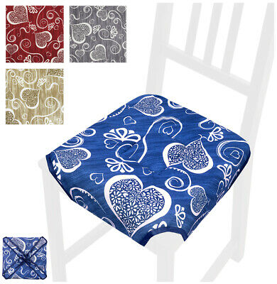Cuscino coprisedia CUORI universali casa cucina copri sedie cotone alette lacci | eBay