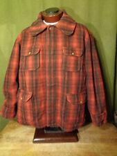 VTG  Woolrich Men's Red Plaid Mackinaw Cruiser Wool Hunting Coat Jacket XL-XXL?