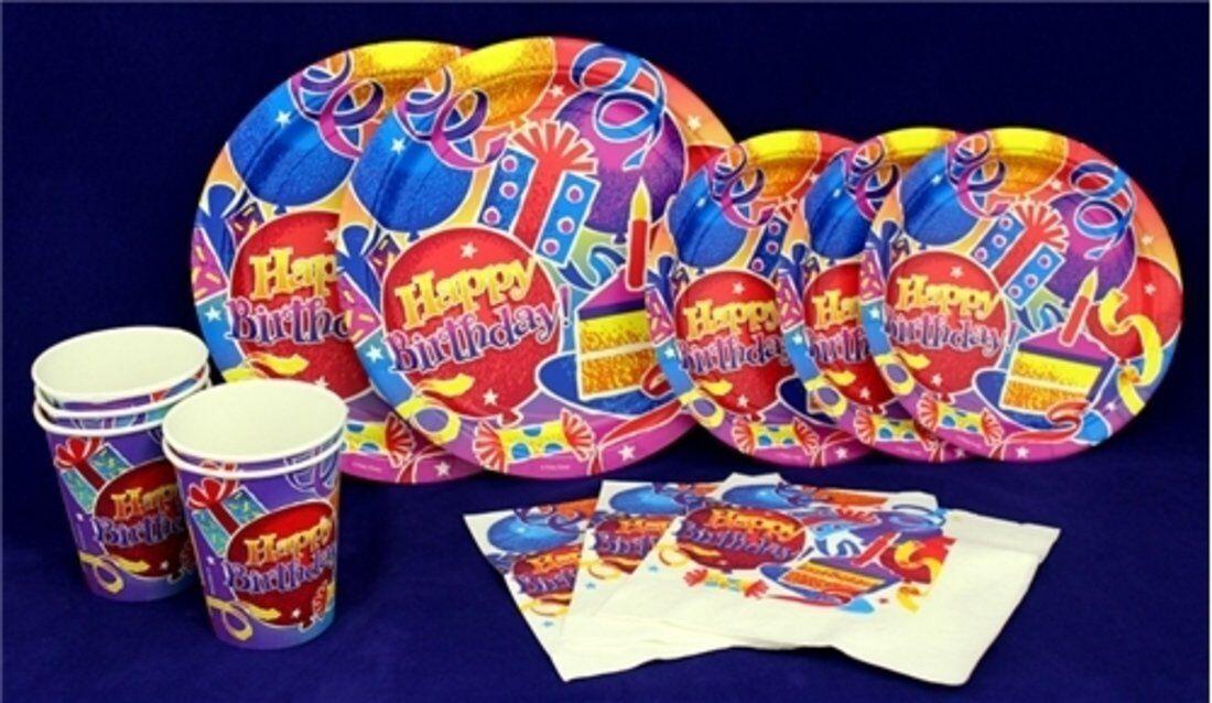 Anniversaire Fun Deluxe Kit for Kids-Assiettes Serviettes Tasses pour 250