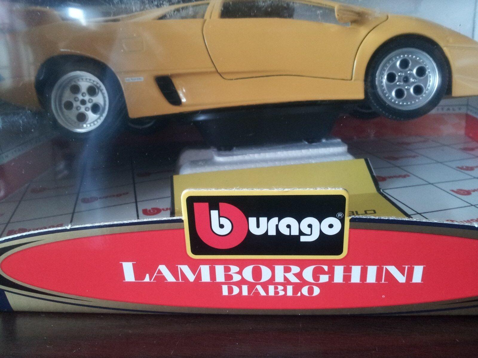 Lamborghini Diablo en métal Die Cast Auto jaune (toujours en boîte) 1 18  Made