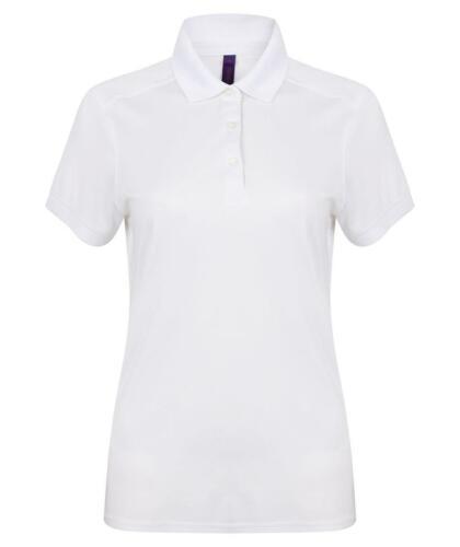 HB461 HENBURY Femme à Manches Courtes Stretch Polo Shirt avec mèche