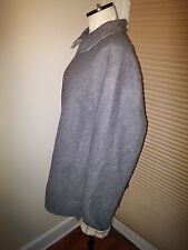 Pendleton Women's Flannel Wool Gray/Plaid Checked Reversible Jacket Size XL SOFT