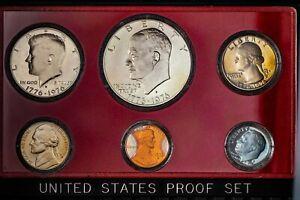 1976-S-US-MINT-PROOF-SET-UNC-NICE-TONED-BU-GEM-CHOICE-COLOR-5-DR