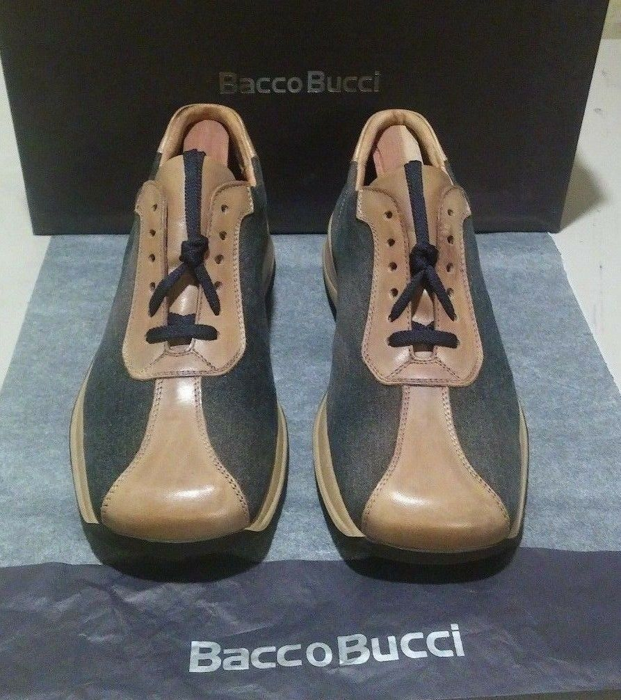New Bacco Bucci Kick 7 EE blue/taupe canvas/leather (429)