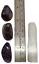 thumbnail 3 - Amethyst Polished Tumbled Stones 3 Piece Set and Bonus Selenite Crystal # 3