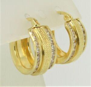 Damen-Creolen-Ohrringe-m-Maeander-Muster-585-Gold-15-mm-Durchmesser-7-6-mm-Breit