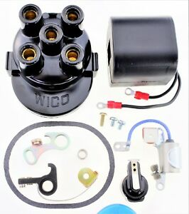 Details about Cap (Cover) Coil Rotor Points Condenser Kit Wico C magneto 4  cylinder C-4 K54