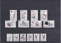 FRANCE 2009 SOURIRES LE PETIT NICOLAS  SERIE COMPLETE DE 14 TIMBRES OBLITERE