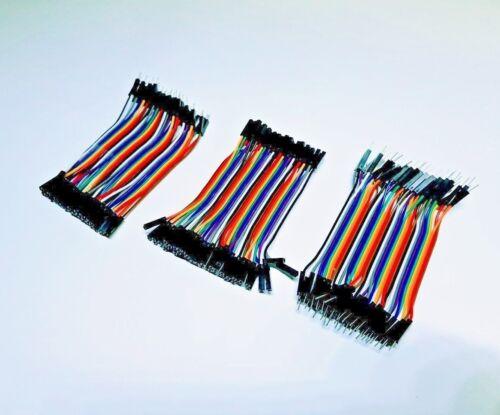 40 pz Dupont cavo Wire Ribbon Jumper Cables 10cm F-F F-M M-M Arduino Breadboard