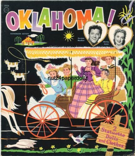 VINTGE 1956 OKLAHOMA SHIRLEY JONES PAPER DOLLS ~LASER REPRODUCTIN~ORI SIZE UNCUT