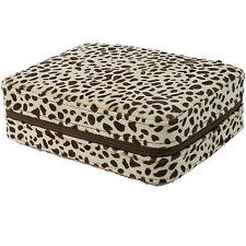 4 Watch Box Travel Case Box Snow Leopard Pattern Storage Case Mens Gifts