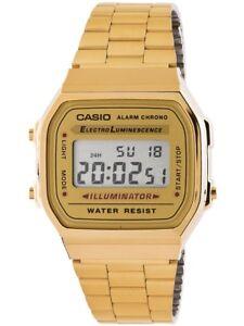 0fe4a7f98709 La imagen se está cargando Reloj-mujer-Casio-a168wg-9ef-dorado-retro