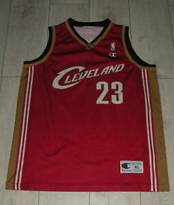 new style fc1ba 325f2 Details about Cleveland Cavaliers #23 James Champion NBA Jersey