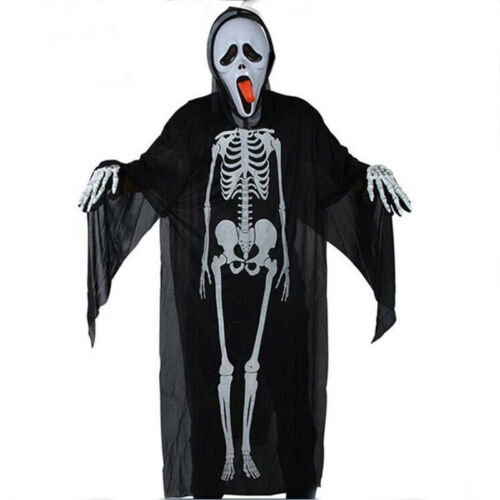 Halloween Ghost Costume Party Adults Clothes Scream Skeleton Ghost Devil Mask