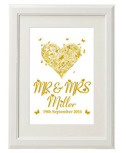Unusual 1st Wedding Anniversary Gifts : ... print-Personalised-Wedding-present-1st-Anniversary-gifts-unusual-ideas