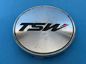 TSW Wheels Machined Chrome Wheel Rim Hub Cover Center Cap C-370-1