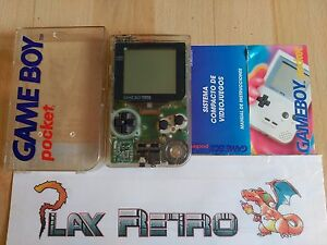 CONSOLA-NINTENDO-GAME-BOY-POCKET-TRANSPARENTE-EN-CAJA-BUEN-ESTADO-VER-FOTOS