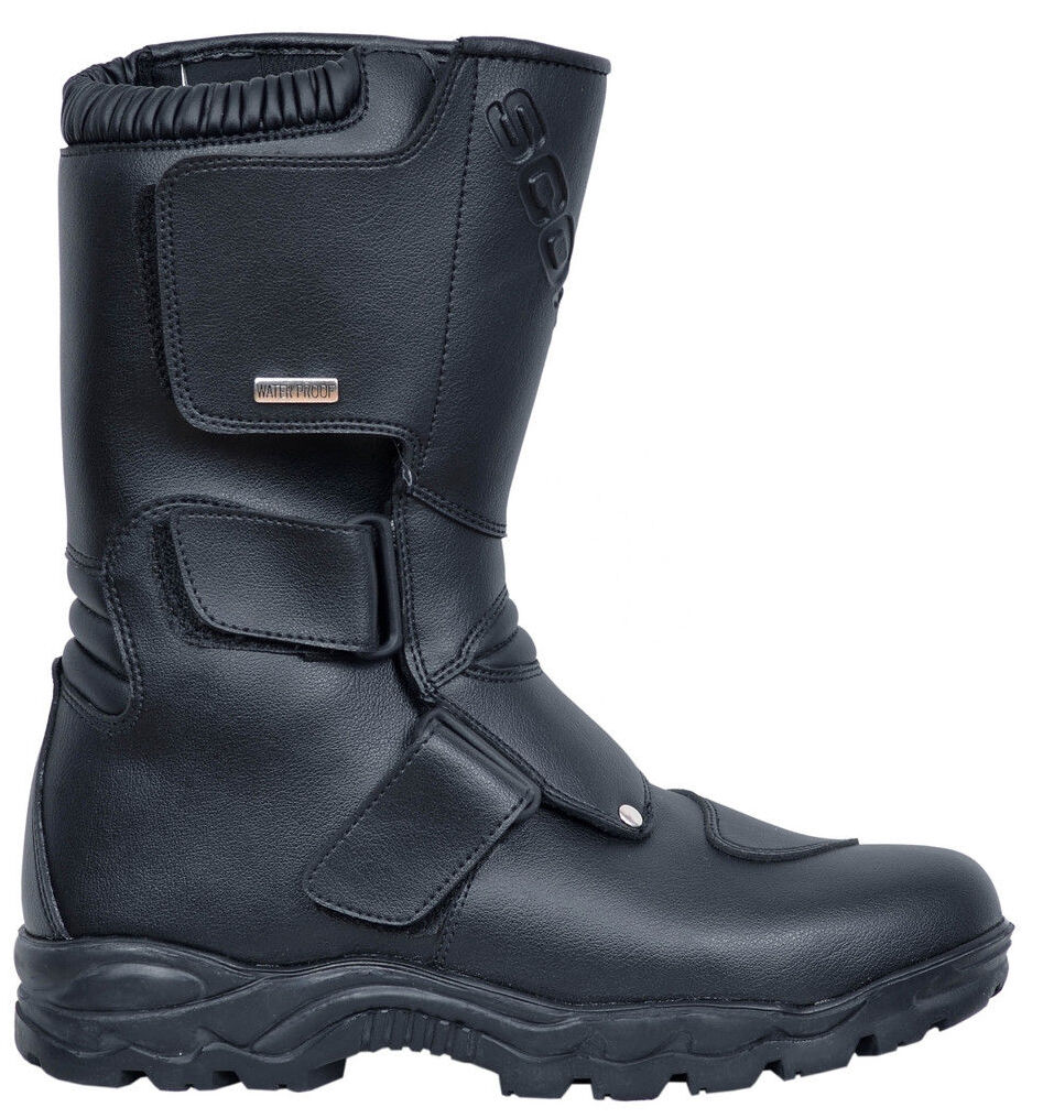 Zapatos de mujer baratos zapatos de mujer Hipora Deluxe Transpirable Impermeable De Motocicleta Botas Negro Premium Cuero Biker