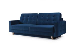 Dettagli su - Vegas-Divano letto a 4 posti in tessuto Comfy Couch Scelta di  Colori L229xW97CM- mostra il titolo originale