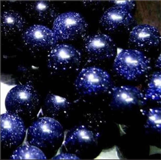 "4mm Galaxy Staras Blue Sand Sun Sitara Loose Beads 15"""