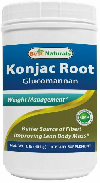 Glucomannan Konjac Root Powder 1lb By Best Naturals For Sale Online Ebay