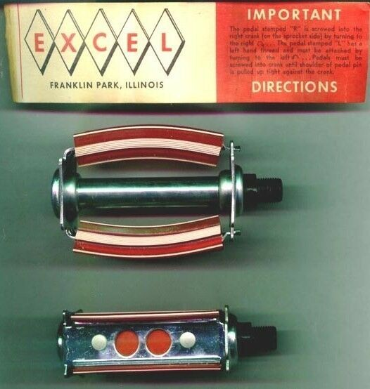 717A Excel    bow type   Bicycle Pedals  N O S  new listing