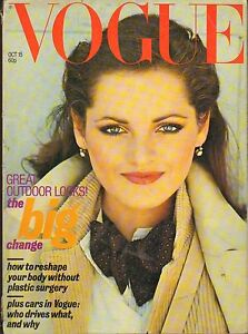 OCT 15 1977 BRITISH VOGUE vintage fashion magazine