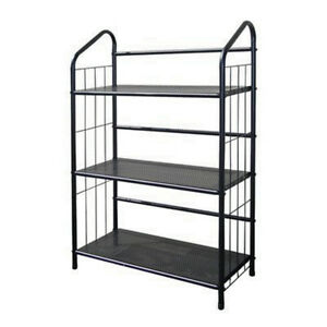 Image Is Loading Black Outdoor Patio Plant Stand Casual Metal Bookcase