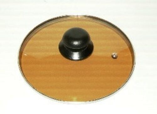 "Glass Lid 22cm//8.7/"" Dia BrownTransparent Glass Guaranteed Quality"