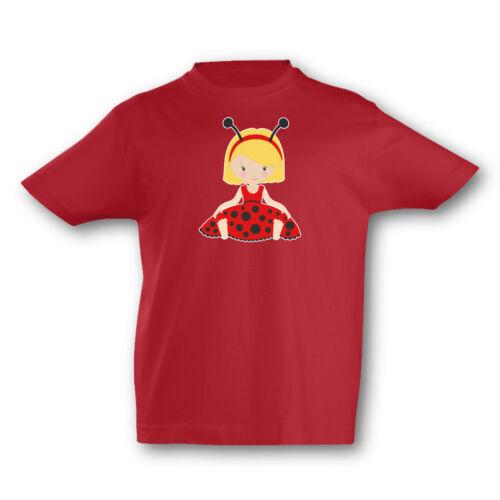 Samunshi Kinder T-Shirt Knuffiges Marienkäfer Mädchen  7 Farben  94-128