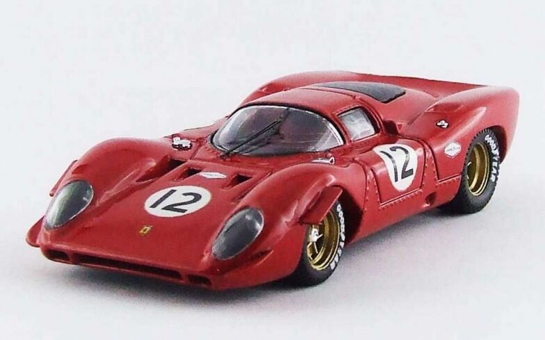 BEST MODEL BES9589 - Ferrari 312 P coupé  12 Bridgehampton - 1969   1 43