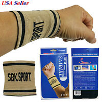 2 Pcs Strong Wrist Support Band Elastic Basketball Tennis Gym Sports Mousework