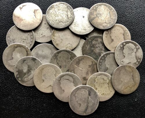No Date Weak Date Capped Bust Dime 10c Circulated from Lot 1809-1837 Silver
