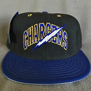 288e1d64239 San Diego Chargers Vintage Annco Double Logo Team NFL Fitted Hat Cap ...