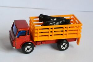 MATCHBOX-Superfast-Lesney-Vintage-1976-N-71-CATTLE-TRUCK-con-i-tori