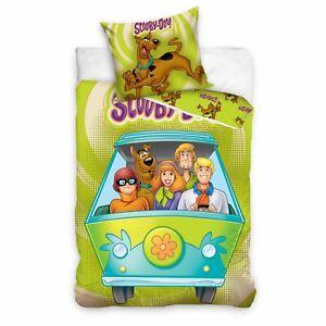 2-IN-1-Design-Europeen-Simple-Scooby-Doo-Set-Housse-de-Couette-100-Coton