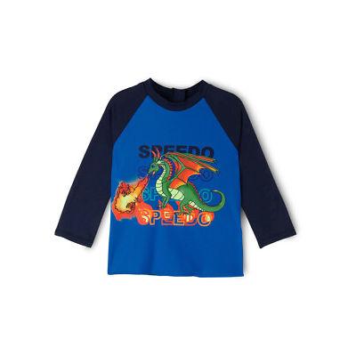 NEW Speedo Toddler Boys Flaming Dragon Long Sleeve Rashie Assorted